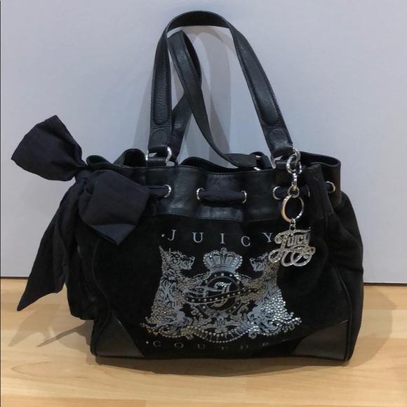 **Juicy Couture Essential Black Shoulder bag**